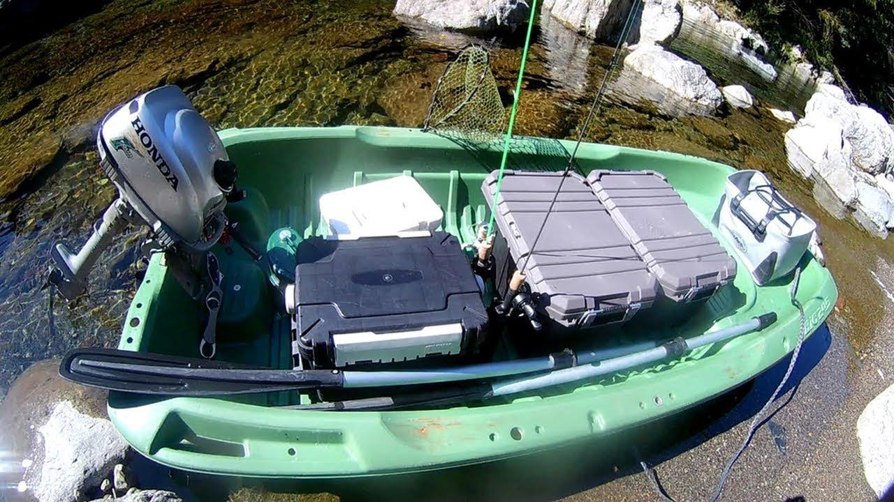 アルバイトをしてお金を貯めて買った小舟で釣りして川のほとりで露天風呂に入ったよ!