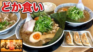 【丸源ラーメン】ネギ大盛りをライスと餃子で大食い!【飯テロ】ramen